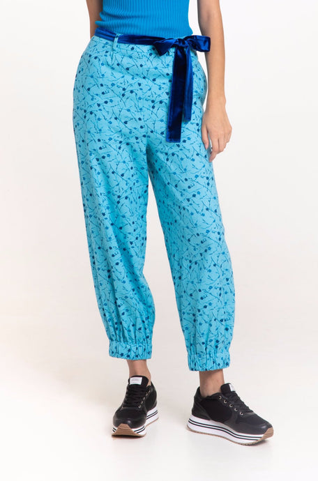 Cerulean Floral trousers