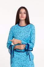 Load image into Gallery viewer, Cerulean Floral Blouse