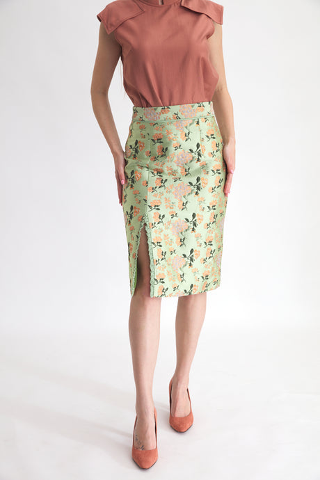 Salamanca Gold Embroidery Skirt