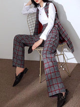 Load image into Gallery viewer, Plaid Power Trousers