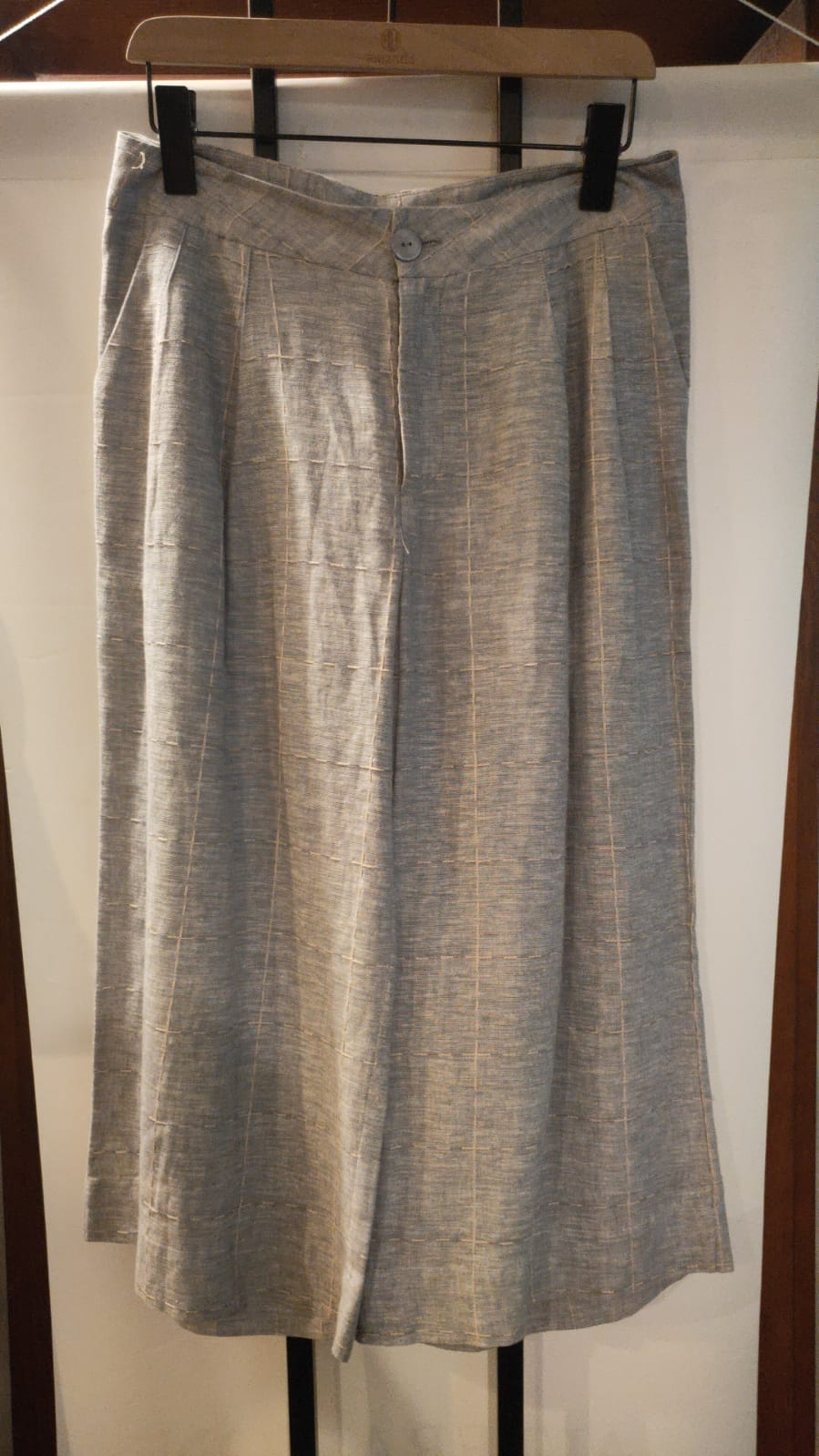 Grey Stitched Pants