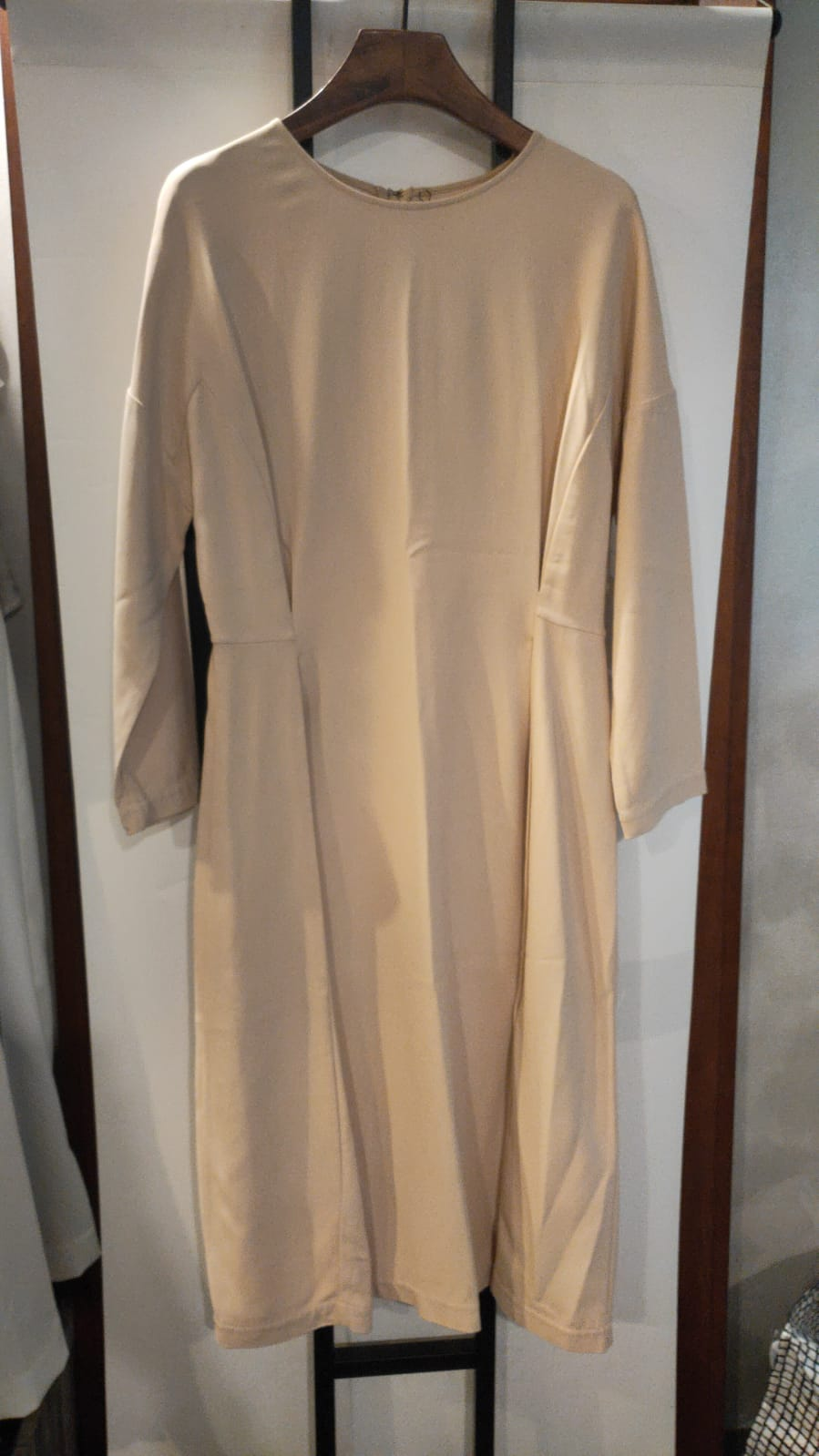 Beige Folded Dress