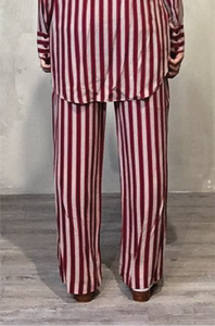Red-striped pants