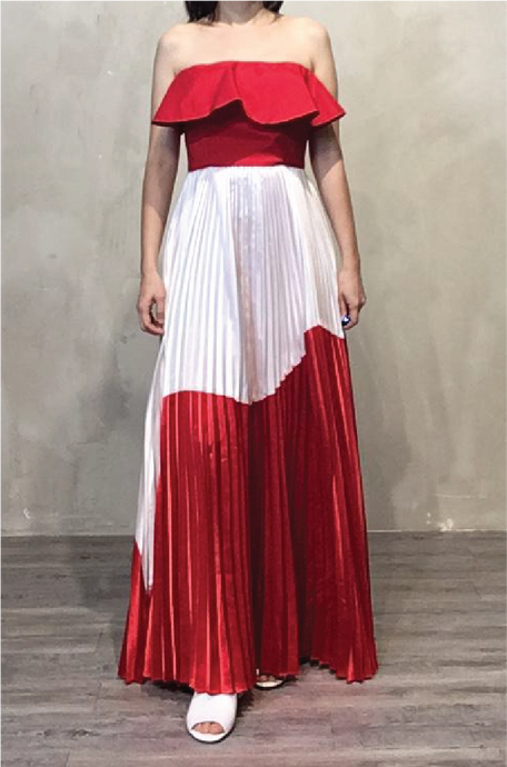 Red tube gown