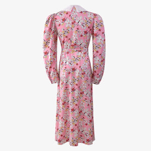 Macie Doll Collar Floral Dress