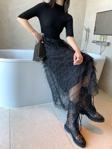 Leslie Net Yarn Skirt Dress