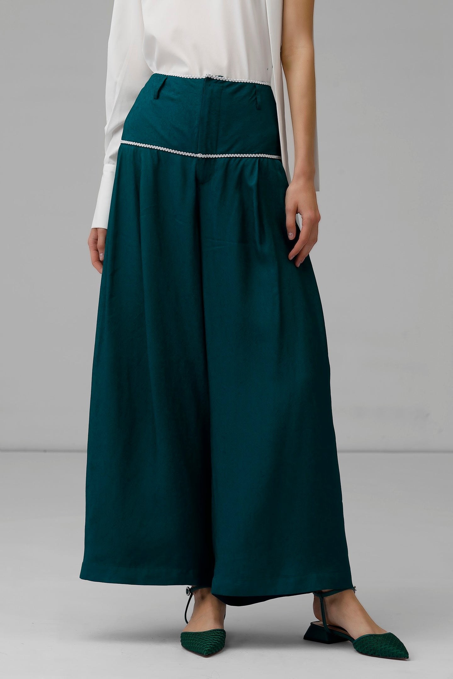 Wide Leg Pant in Teal
