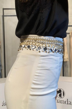 Load image into Gallery viewer, White bejewelled skirt