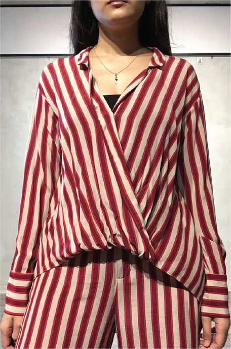 Red-striped top