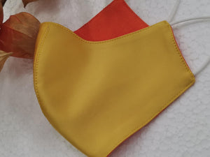 Yellow and Orange Reversible Mask