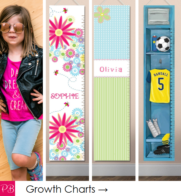 Pink Blush Kids - Personalized Growth Charts