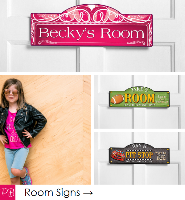Pink Blush Kids - Personalized Room Signs