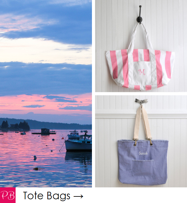 Pink Blush Travel - Personalized Tote and Travel Bags