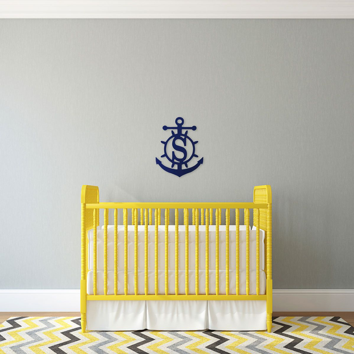Personalized Anchor Wood Monogram ~ 14 x 18
