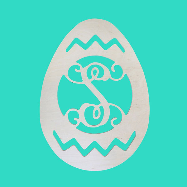 Personalized Easter Egg Wood Monogram ~ 13 x 18