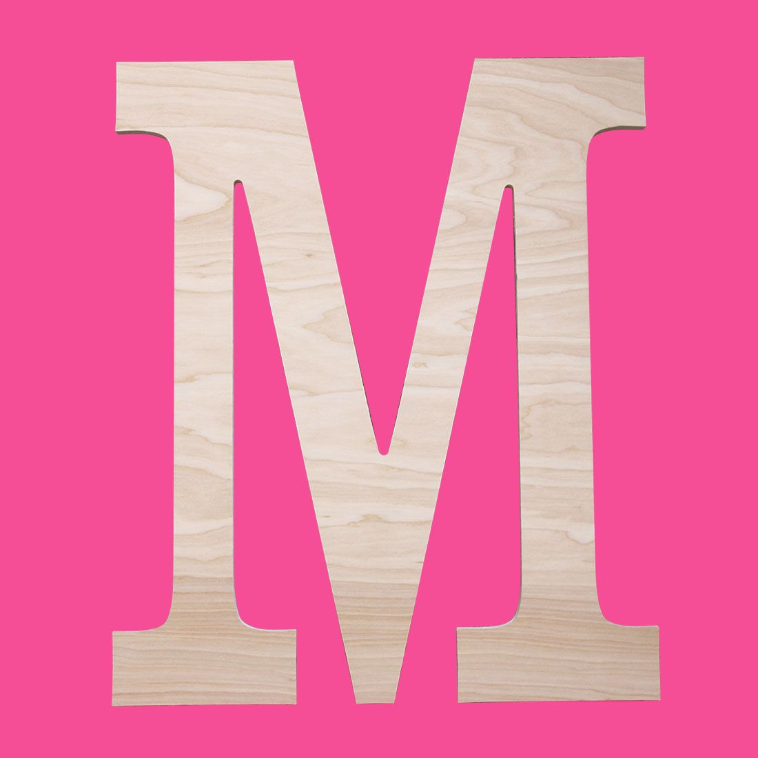Personalized Large Single Initial Classic Wood Monogram ~ 18 in. high