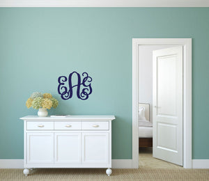 Personalized Large Three Initials Wood Monogram ~ 18 in. high