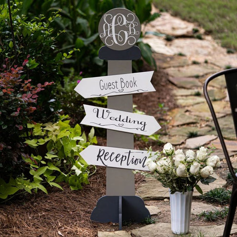 Directional Sign Pole ready-to-paint project kit