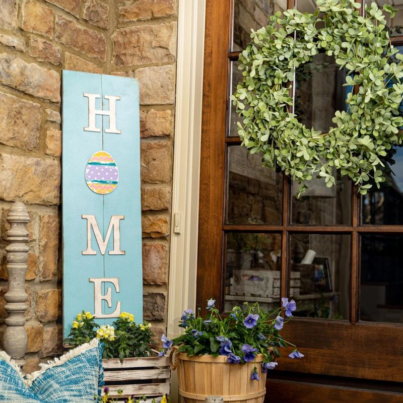 Multi-Season HOME Porch Sign with Interchangeable Shapes ready-to-paint project kit