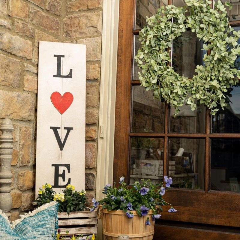 Multi-Season LOVE Porch Sign with Interchangeable Shapes ready-to-paint project kit - 11 x 36