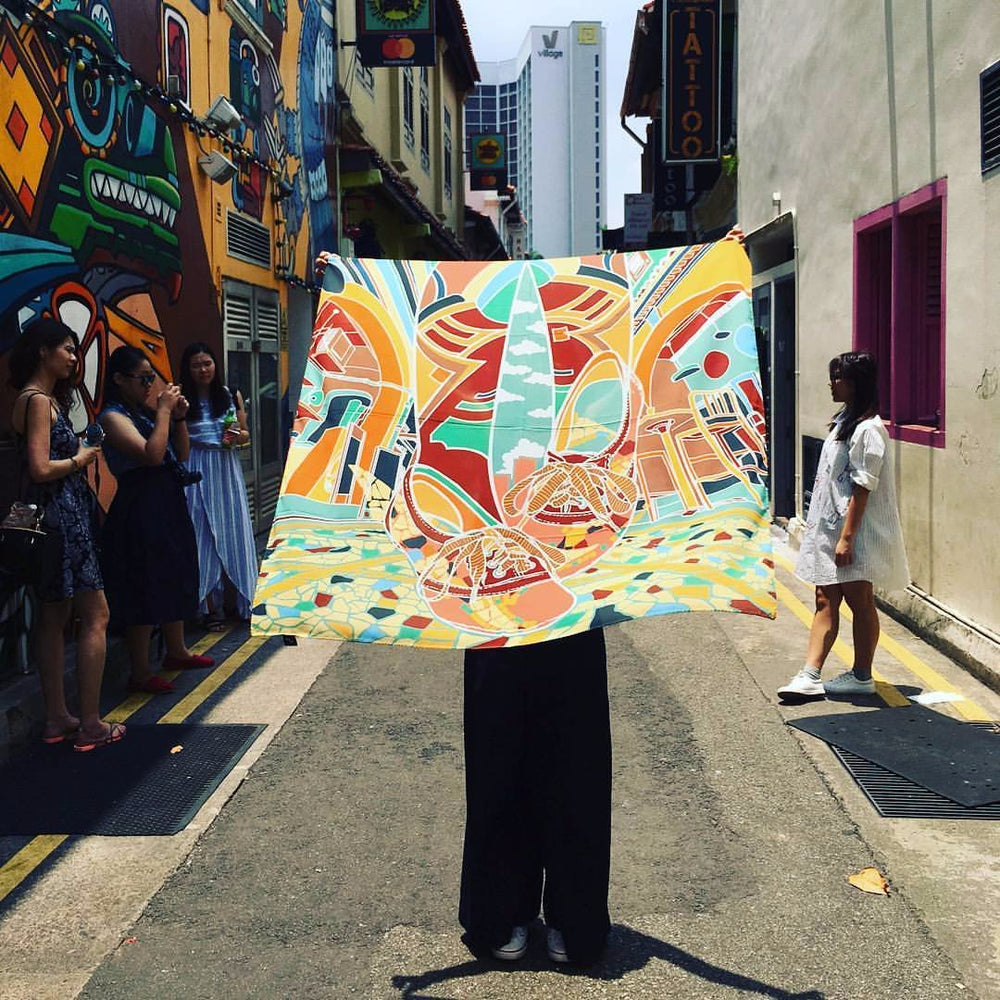 Cool Stroll Along Haji Lane Square Scarf - KEEPERS