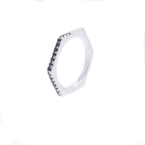 Nut & Bolt Silver Single Ring