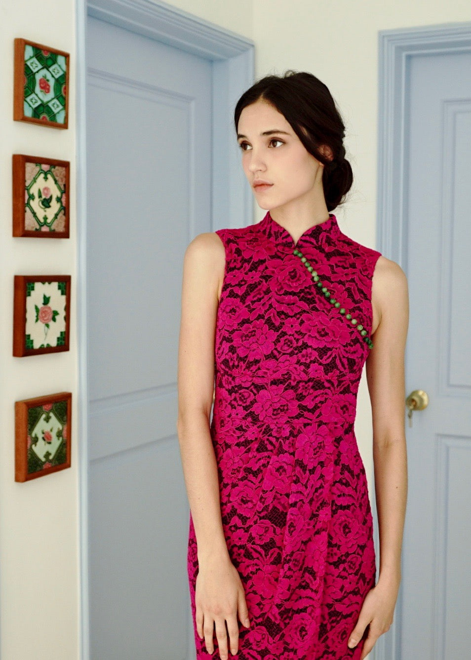 Signature Lace Midi Cheongsam - KEEPERS
