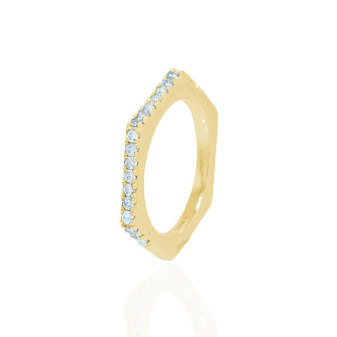 Nut & Bolt Yellow Gold Single Ring