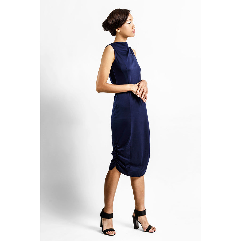 Draped Neck Dress - KEEPERS