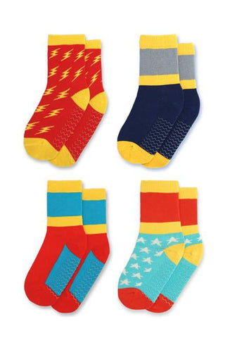 Justice Squad Kids Socks (4-6 yrs) - set of four - KEEPERS