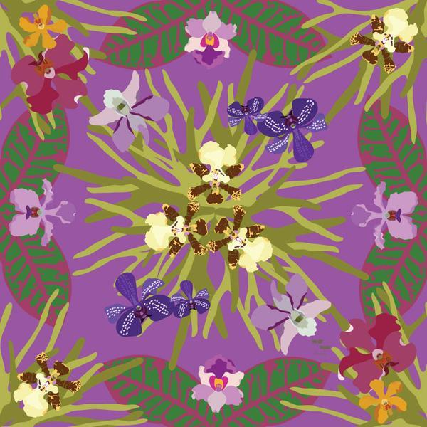 Orchidea Square Scarf - KEEPERS