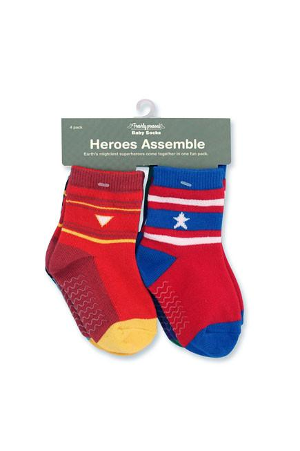 Heroes Assemble Baby Socks (12-24 mths) - set of four - KEEPERS