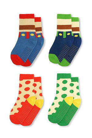 Super Bros Kids Socks (4-6 yrs) - set of four - KEEPERS