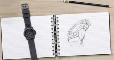 Luminox 3500 Navy SEALs drawing