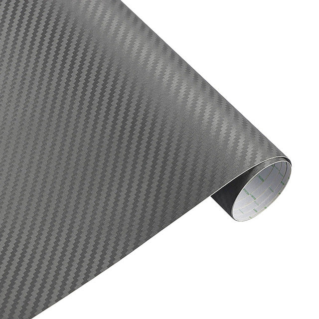 12x50'' in Carbon Fiber Vinyl Car Wrap Sheet Roll Trim, Grill