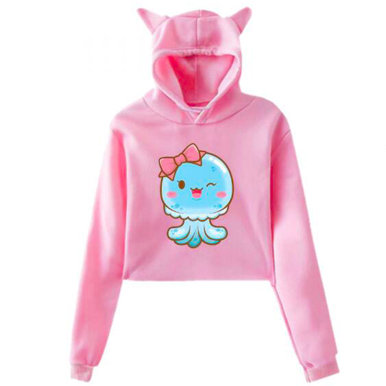 Cat Ears Shelly the Jelly Cropped Hoodie