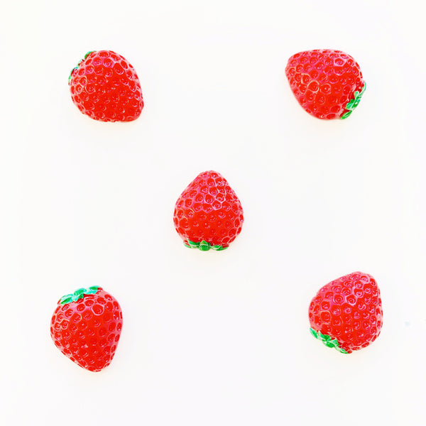Strawberry Flatback Resin Charms