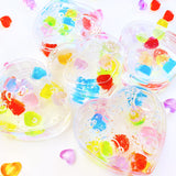 Heart Candy Box Clear Slime