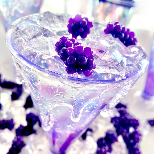 Blackberry Spritzer Clear Avalanche Slime