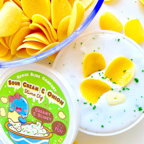 Sour Cream & Onion Slime Dip with Chips