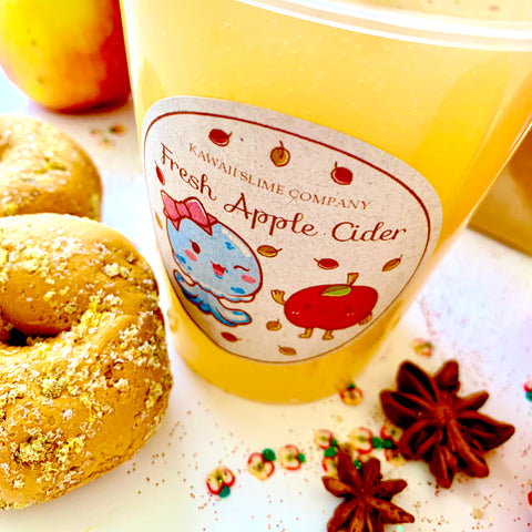 Apple Cider Slime + Clay Donuts