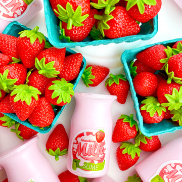 Strawberry Milk Glossy Slime