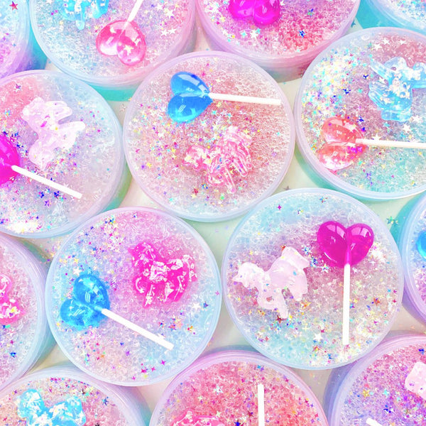 Unicorn Rock Candy Crunchy Slime