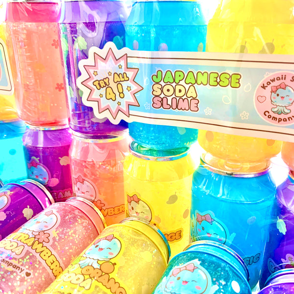 Kawaii Soda Slime 4 Pack
