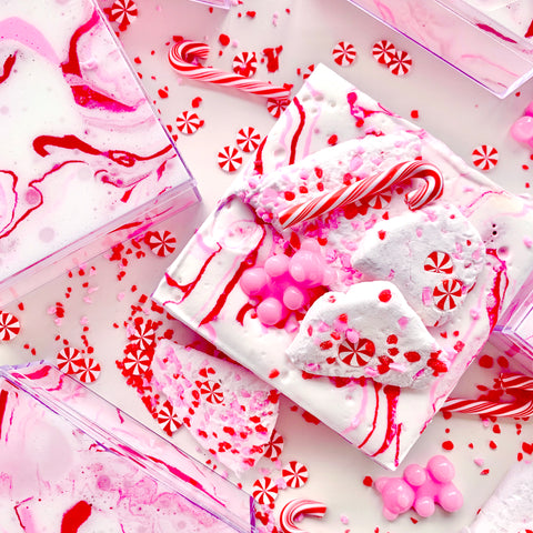 Pink Peppermint Bark Slime Duo