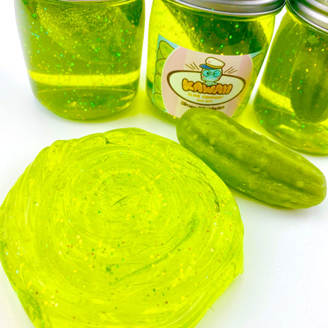 Shimmery Pickle Clear Slime