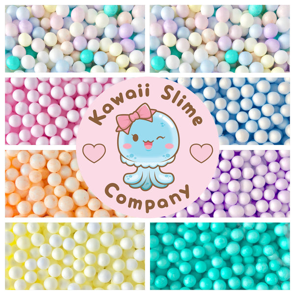 Large Pastel Foam Beads - 8 Colors