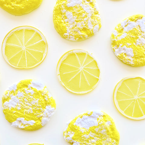 Coconut Milk Sorbet & Lemon Cookies Slime