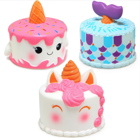 Narwhal Unicorn Mermaid Cake Squishy