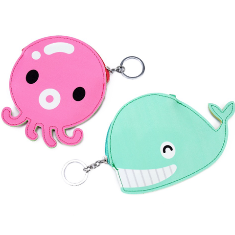 Octopus Keychain Coin Purse